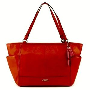 NWT Coach Red Park Leather Tote